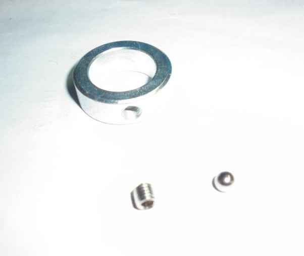 Golf trolley axle ring screw and ball bearing shown