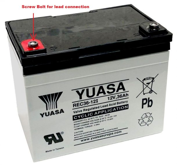 Pro Rider Golf Trolley battery lead 36Ah connection