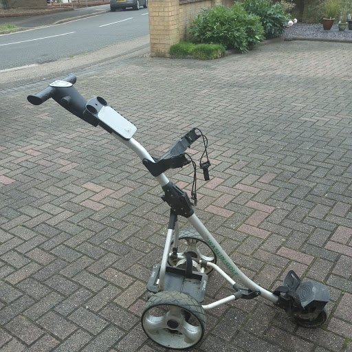 LCD T handle golf trolley