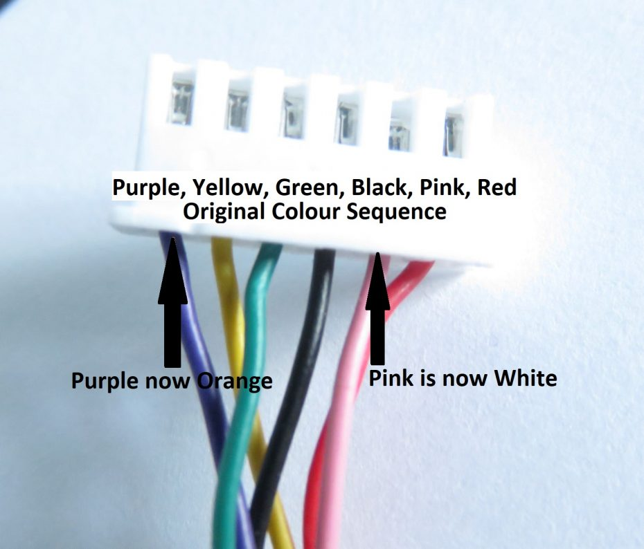 main wire colour sequences